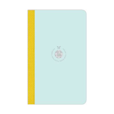 144629_Notebook Smartbook Flexbook Mint & Yellow Ruled 210mm x 130mm Medium.png